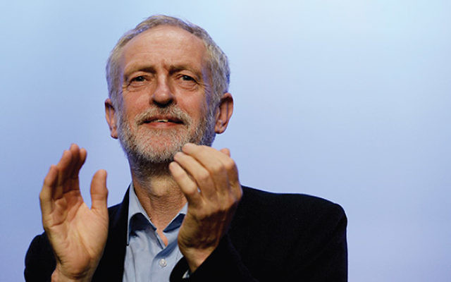 Labor Party leader Jeremy Corbyn addressing the Trade Union Congress conference in Brighton, England. Getty Images
