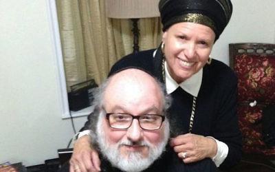 Jonathan Pollard with his wife, Esther.