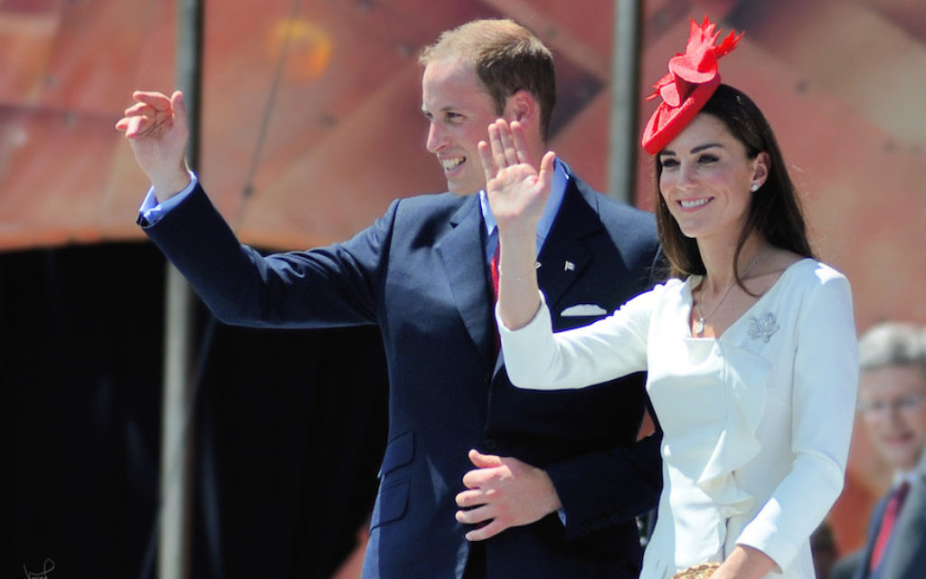 Prince William and Catherine, the Duchess of Cambridge, in Ottawa, Canada, July 1, 2011. Wikimedia Commons