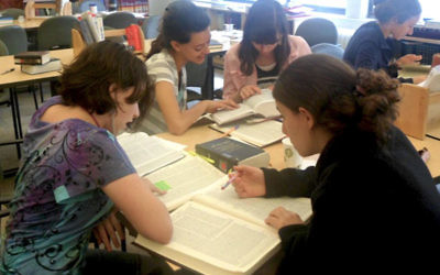 Women studying at the Drisha institute in NYC. Courtesy