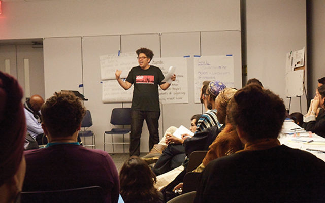 A session at a Jews of Color conference in Chelsea, NYC. Courtesy of Desmond Reich