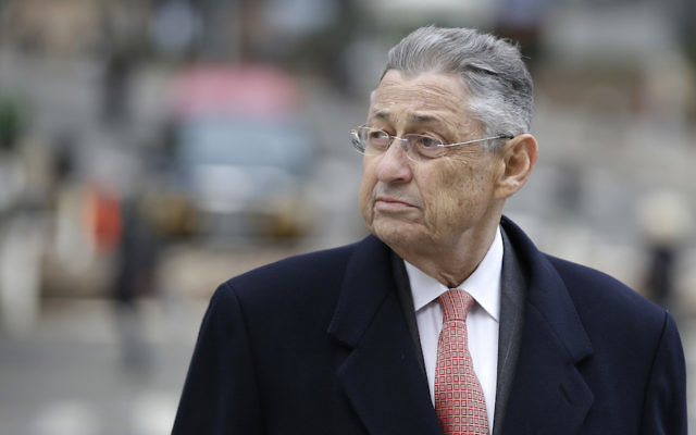 Former New York Assembly Speaker Sheldon Silver arriving at the courthouse in New York, Nov. 24, 2015. (JTA)