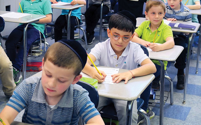 Students at a Jewish school in Midwood, Brooklyn. MICHAEL DATIKASH/JW