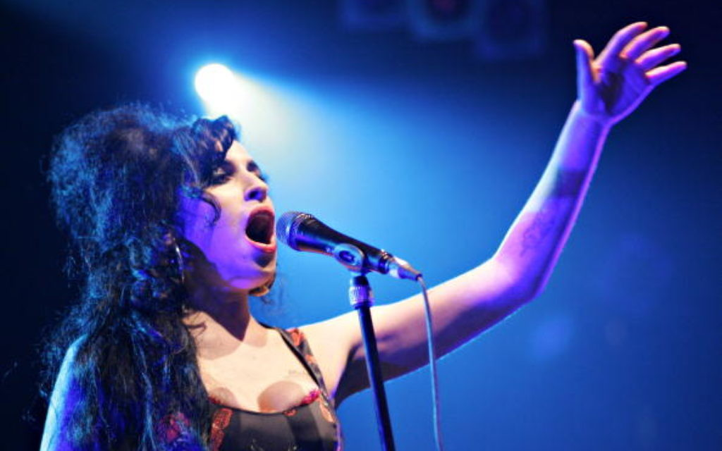 Amy Winehouse performing in London. Getty Images.