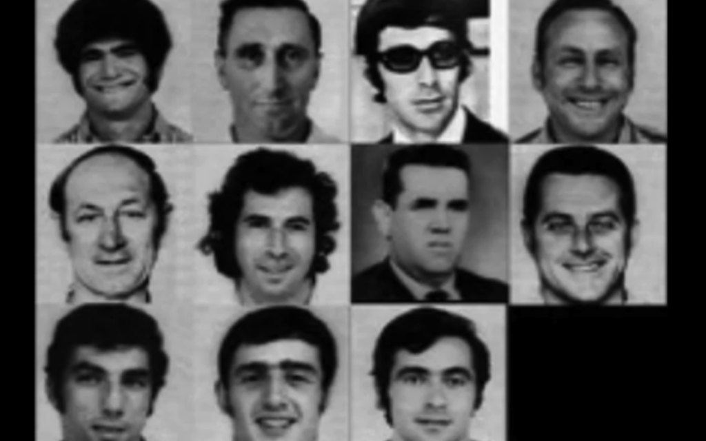 The 11 Israeli victims of the massacre at the '72 Munich Olympics. JTA