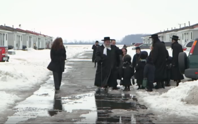 A scene from a police raid by Guatemalan police on Lev Tahor's homes. Screenshot/CBC Youtube