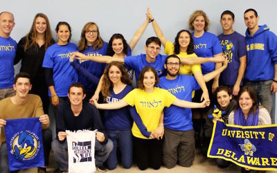 Illustrative photo of a Hillel group at University of Delaware. Courtesy