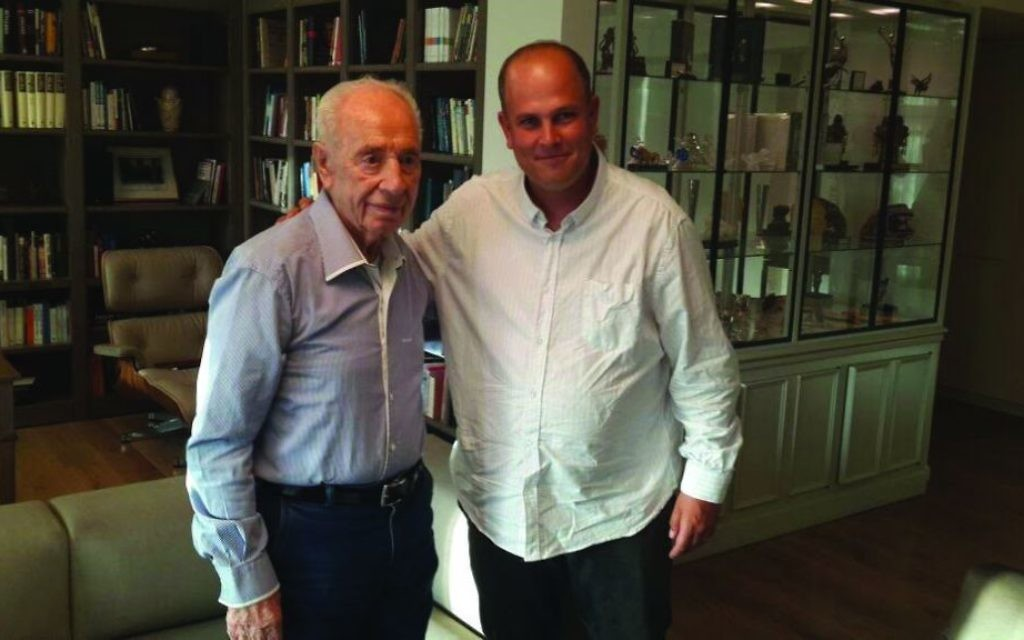 Author Micah Goodman with the late Shimon Peres.