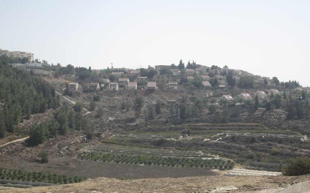 A view of Shilo, a West Bank settlement with more than 3,500 residents.