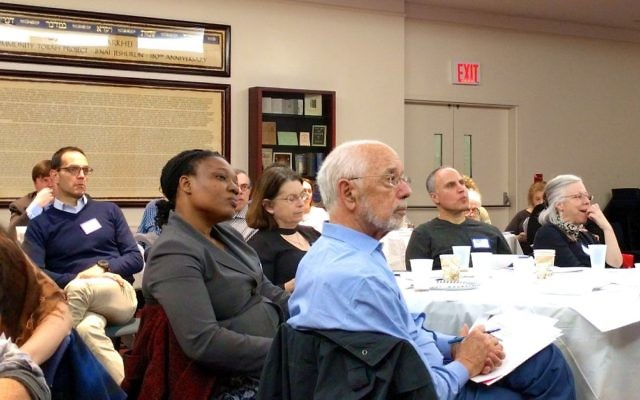 Attorneys attend HIAS' first-ever training on providing pro bono legal aid to refugees in NYC in November 2016. Amy Sara Clark/JW