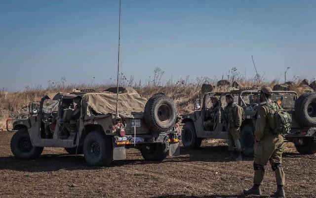 Israeli soldiers patrolling the Syrian border. JTA