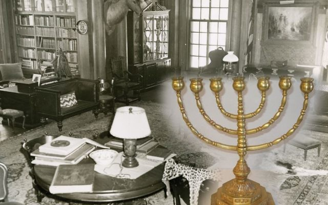 The North Room at Teddy Roosevelt's Sagamore Hill home once housed two brass menorahs. Photos courtesy of Sagamore Hill National Historic Site
