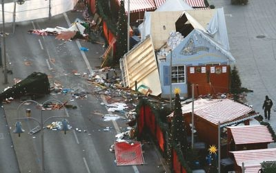 The aftermath of the recent terror attack on a Christmas market in Berlin. Getty Images
