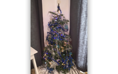 """The Chanukah bush of the Saeidy family which started """"just for fun."""" Photo courtesy Elliot Saeidy."""