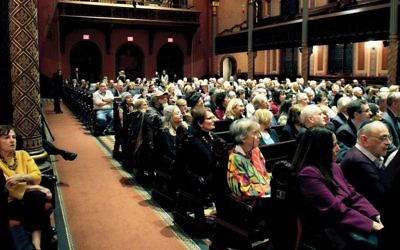 Majestic setting: More than 350 people were in the Central Synagogue sanctuary for The Jewish Week forum. Photos by Judah S. Harris