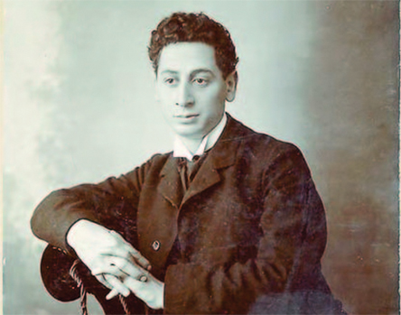 """God of Vengeance"" playwright Sholem Asch, photographed in 1906."
