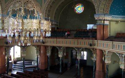 The Spanish Moorish sanctuary of the Sofia Synagogue. Courtesy of Joseph Benatov