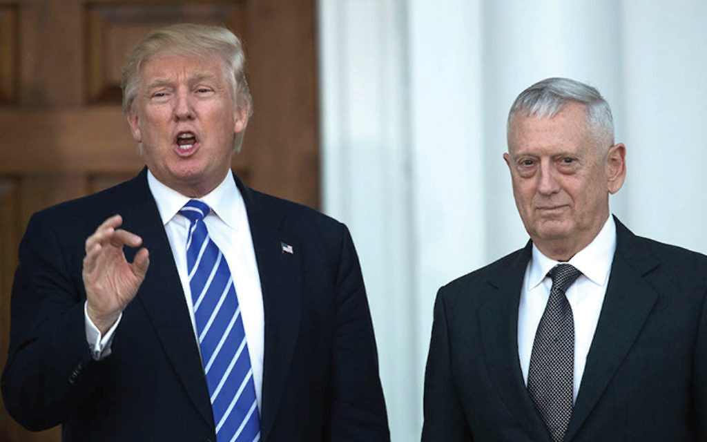 President Donald Trump with Defense Secretary Jim Mattis. Getty Images