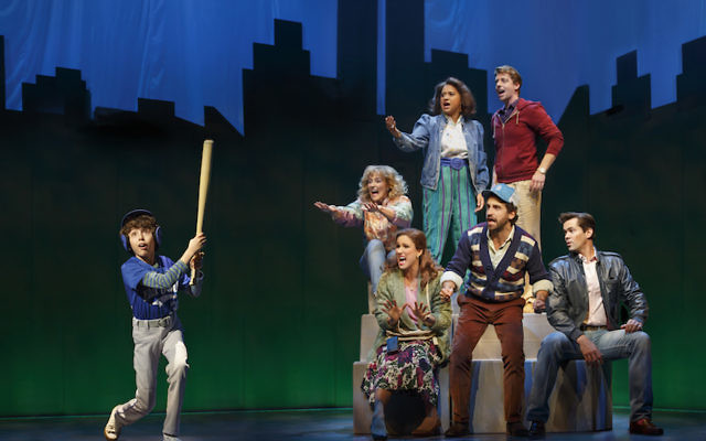 """Clockwise from left: Anthony Rosenthal, Betsy Wolfe, Tracie Thoms, Christian Borle, Andrew Rannells, Brandon Uranowitz and Stephanie J. Block performing in the musical """"Falsettos."""" (Joan Marcus)"""