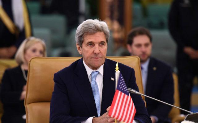 John Kerry at a meeting of the Mideast Quartet on the situation in Yemen in Riyadh, Saudi Arabia, Dec. 18, 2016. (Fayez Nureldine/AFP/Getty Images)