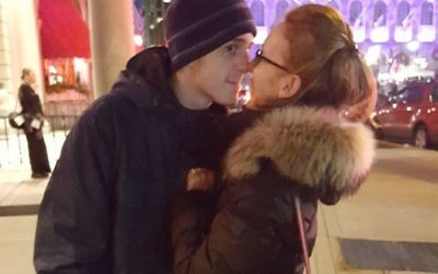 Nina Mogilnik and her son. Courtesy of Nina Mogilnik