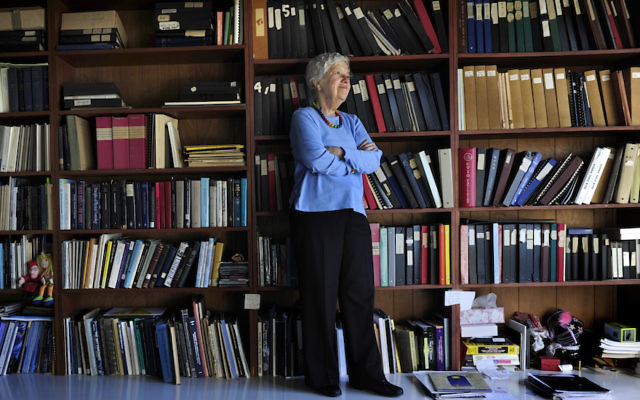 Vera Rubin in her office at the Carnegie Institution of Washington in Washington, D.C., Jan. 14, 2010. (Linda Davidson/The Washington Post via Getty Images).