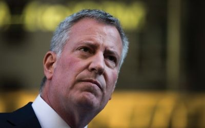 Mayor de Blasio: How's he doing with the Jews? Getty Images
