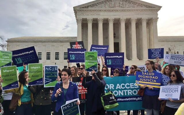 Members of the National Council of Jewish Women at a recent reproductive rights rally in front of the Supreme Court. Courtesy of NCJW