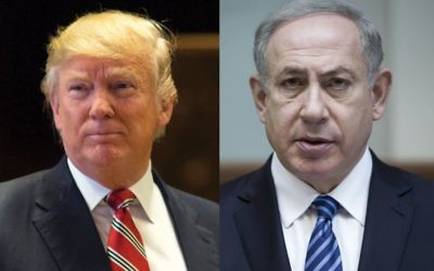 Trump and Netanyahu: A strategy of intimidation? Photos by Getty Images
