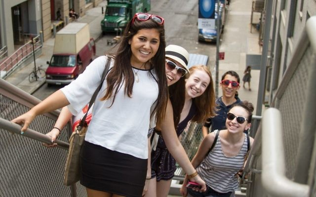 Don't worry, be happy: Teens take part in summer internships here through the Jewish Education Project.