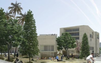 An artist rendering of the Jerusalem Arts Campus, which will house four academic cultural institutions. Photos courtesy of UJA-Federation of New York