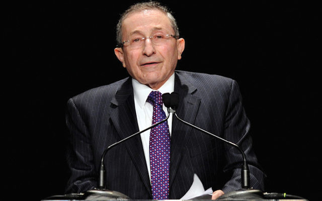 Rabbi Marvin Hier at the Simon Wiesenthal Center's Annual National Tribute Dinner, in 2011, at the Beverly Wilshire Hotel in Beverly Hills. JTA
