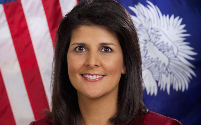 Nikki Haley is the current United States Ambassador to the United Nations. JTA