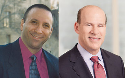 Honorees Jeff Kohn, left, and Paul B. Warhit.