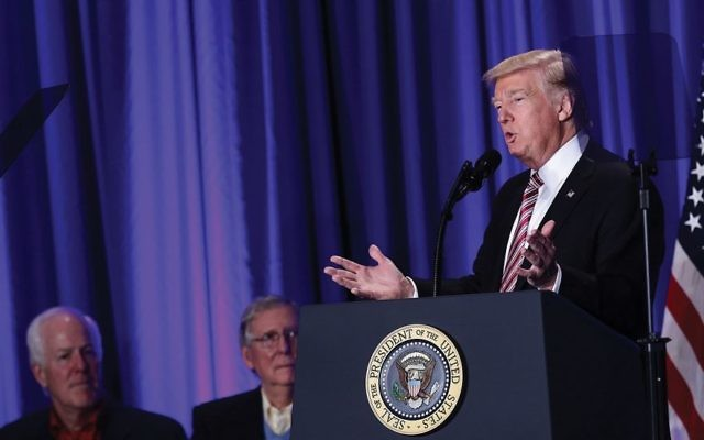 Trump's statement about International Holocaust Remembrance Day was criticized and defended in the Jewish community. Getty Images