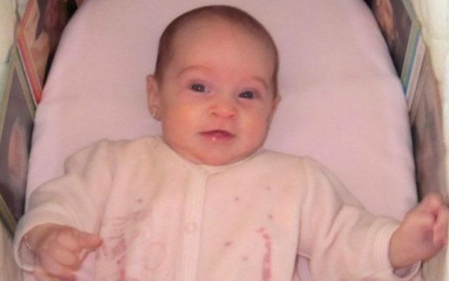 Chaya Zissel Braun was 3 months old when she was killed in a 2014 terrorist attack in Jerusalem. (Channel 2 Screenshot)