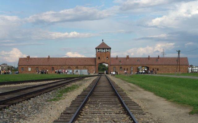 Tracks leading to Auschwitz-Birkenau camp