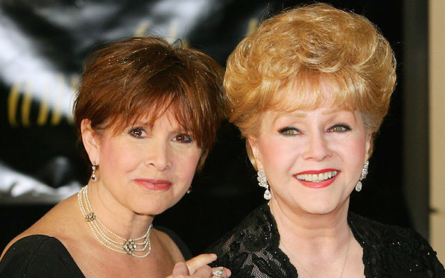 Actress Carrie Fisher, left, and her mother, actress Debbie Reynolds, arriving for Elizabeth Taylor's 75th birthday party in Las Vegas, Feb. 27, 2007. (Ethan Miller/Getty Images)
