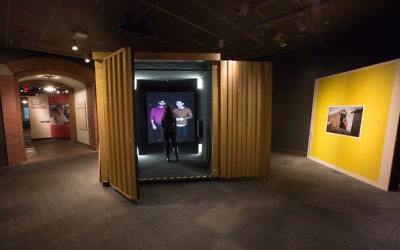 A new exhibit at the U.S. Holocaust Memorial Museum allows visitors to video chat with refugees. (Courtesy of the U.S. Holocaust Memorial Museum)