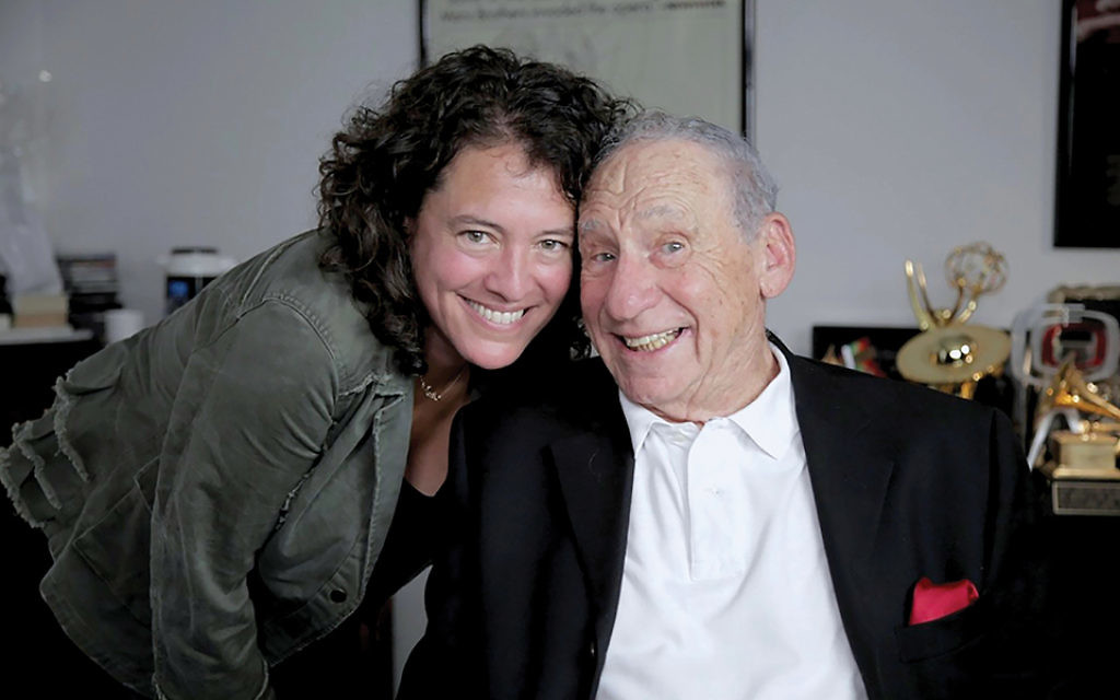 "Mel Brooks, right, was one of several celebrities interviewed by director Ferne Pearlstein in ""The Last Laugh."" PHOTOS COURTESY FERNE PEARLSTEIN"