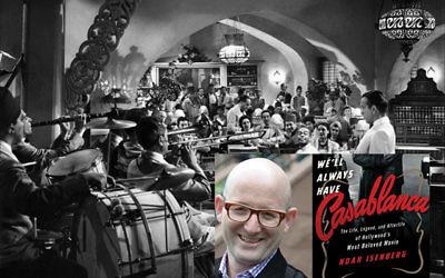Author Noah Isenberg and Rick's Café Americain.