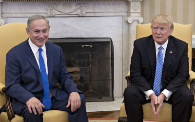 Israeli Prime Minister Benjamin Netanyahu, left, and President Donald Trump in the Oval Office of the White House, Feb. 15, 2017. Getty Images