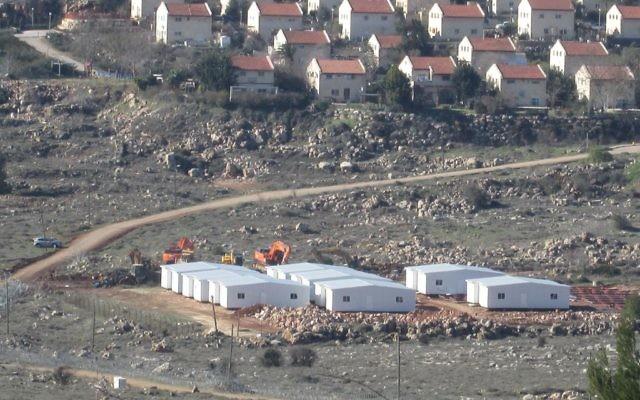 The settlement outpost of Amona, site of last week's evacuation. Michele Chabin/JW