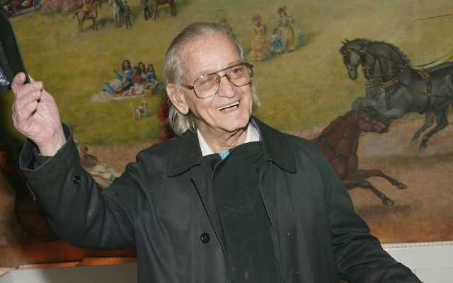 Actor Professor Irwin Corey attends the Broadway opening of 'Sly Fox' after-party at Tavern On The Green April 1, 2004 in New York City