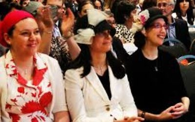 Yeshivat Maharat trains Orthodox Jewish women to be religious leaders. Pictured here are its first graduated in 2013 in NYC. JTA