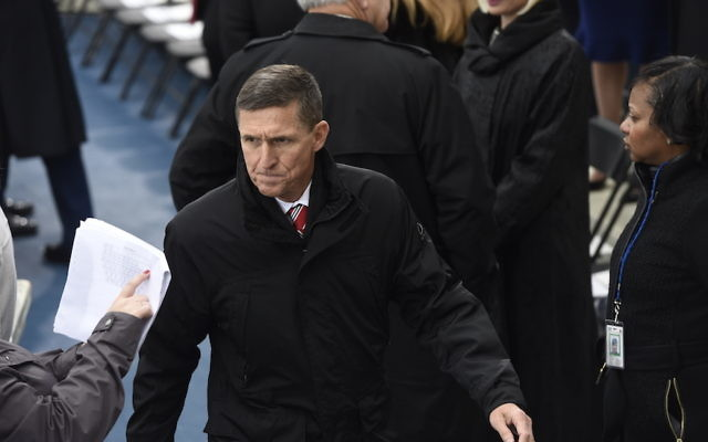 Lt. Gen. Michael Flynn at the U.S. Capitol during President Donald Trump's inauguration ceremony, Jan. 20, 2017. (Saul Loeb/Pool/Getty Images)