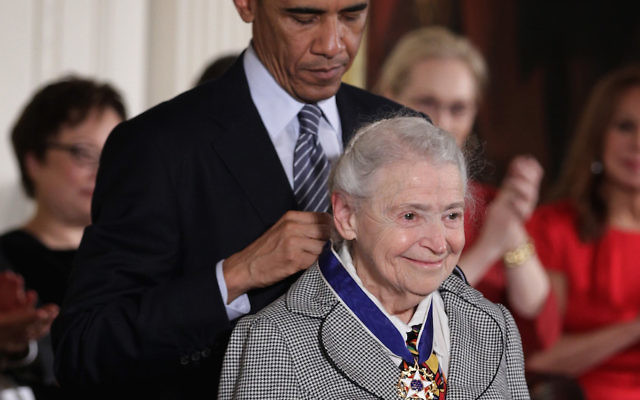 U.S. President Barack Obama (L) presents the Presidential Medal of Freedom to physicist Mildred Dresselhaus (R) during an East Room ceremony at the White House November 24, 2014 in Washington, DC. The Presidential Medal of Freedom is the nation's highest civilian honor. Getty Images