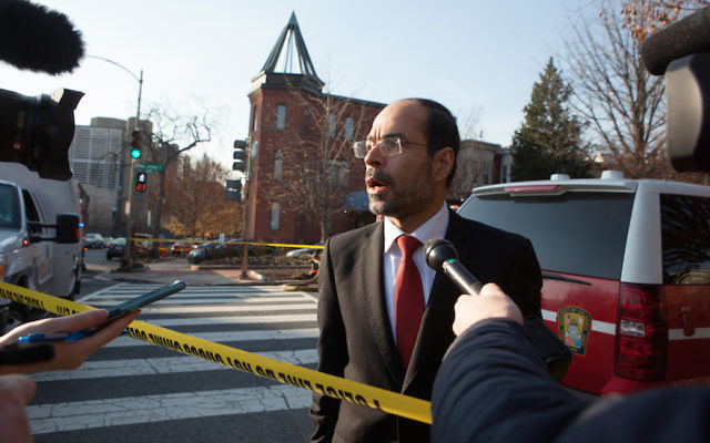 Nihad Awad, the executive director of the Council on American-Islamic Relations speaking to the media in Washington, D.C. Dec. 10, 2015. (Allison Shelley/Getty Images)