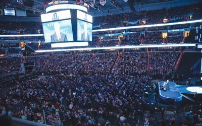 Vice President Mike Pence addressed some 18,000 delegates at the 2017 AIPAC conference, its largest crowd ever. Getty Images