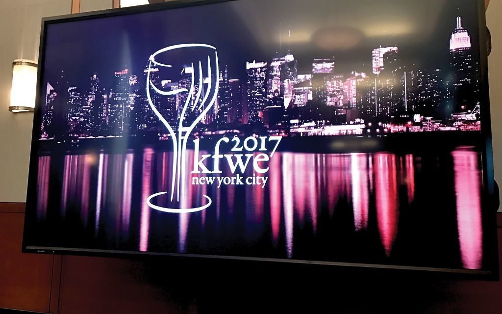 At the recent Kosher Food & Wine Experience NYC.